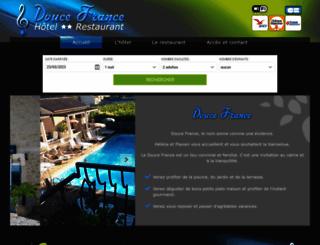 hoteldoucefrance.com screenshot