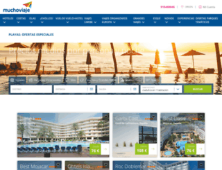 hoteles-playa.muchoviaje.com screenshot