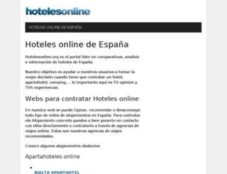 hoteles.tustiendas.es screenshot