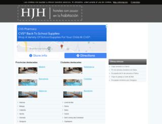 hotelesconjacuzzienlahabitacion.org screenshot