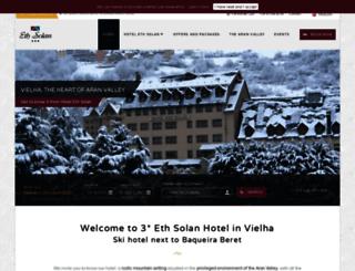 hotelethsolanvielha.com screenshot