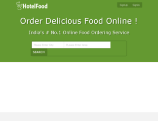 hotelfood.in screenshot
