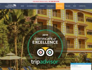 hotelfortunegoa.com screenshot
