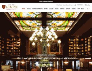 hotelgeneve.com.mx screenshot