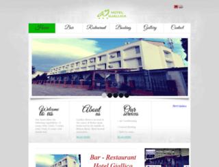 hotelgjallica.al screenshot