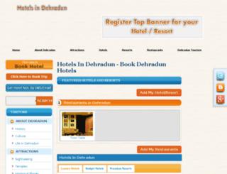hotelindehradun.com screenshot