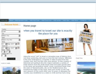 hotelinisrael.net screenshot