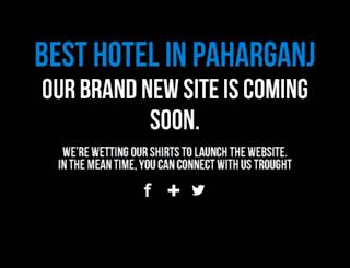 hotelinpaharganj.com screenshot