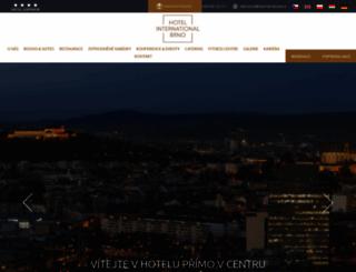 hotelinternational.cz screenshot