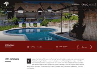 hoteljacaranda.com.ar screenshot