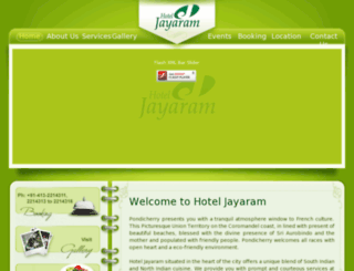 hoteljayaram.com screenshot