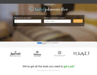hoteljobrecruiter.com screenshot