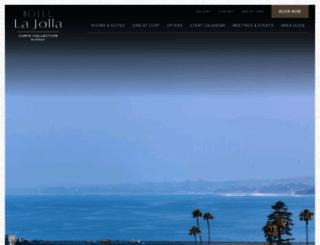 hotellajolla.com screenshot