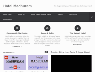 hotelmadhuram.in screenshot
