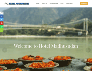 hotelmadhusudan.com screenshot