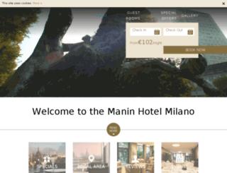hotelmanin.it screenshot