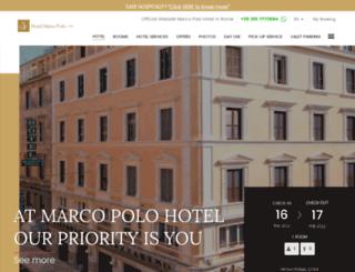 hotelmarcopoloroma.com screenshot