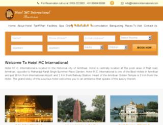 hotelmcinternational.com screenshot