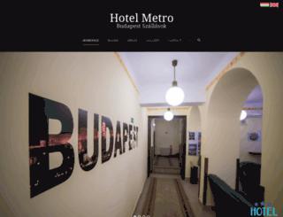 hotelmetrobudapest.hu screenshot