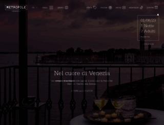 hotelmetropole.com screenshot