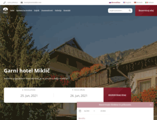 hotelmiklic.com screenshot