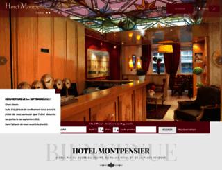 hotelmontpensierparis.com screenshot