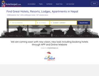 hotelnepal.com screenshot