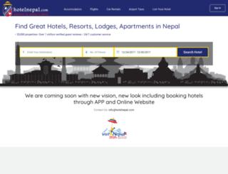 hotelnepal.com screenshot