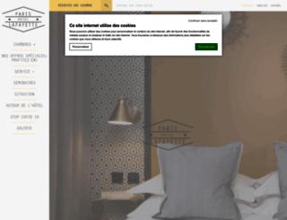 hotelparislafayette.com screenshot