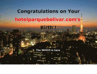 hotelparquebolivar.com screenshot