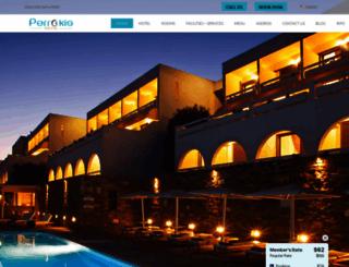 hotelperrakis.com screenshot