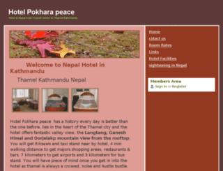 hotelpokharapeace.webs.com screenshot