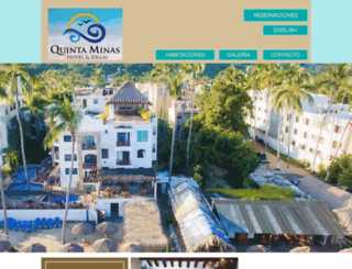 hotelquintaminas.com.mx screenshot