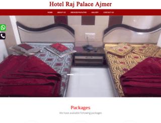 hotelrajpalaceajmer.com screenshot