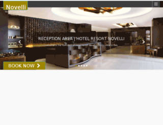 hotelresortnovelli.com screenshot