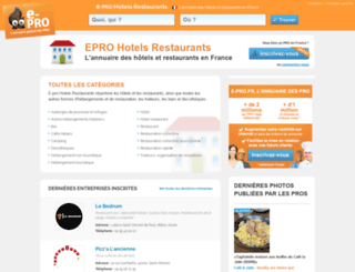 hotelrestaurant.e-pro.fr screenshot