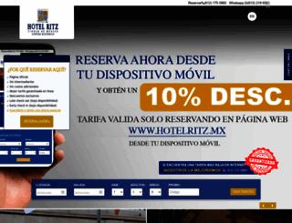 hotelritz.mx screenshot