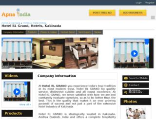 hotelrlgrand-kakinada.apnaindia.com screenshot