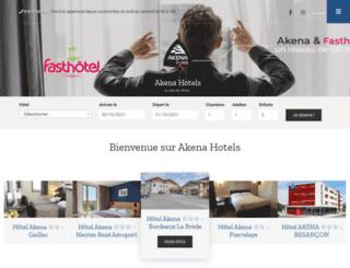 hotels-akena.com screenshot