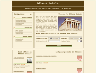hotels-athens.org screenshot