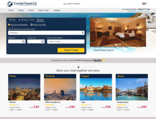 hotels.crystaltravel.co.uk screenshot