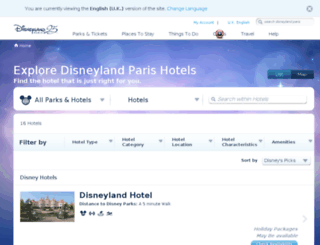 hotels.disneylandparis.co.uk screenshot