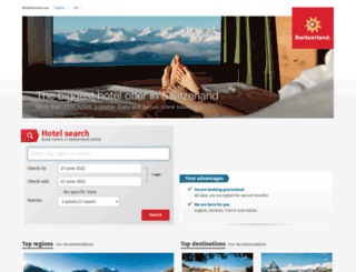 hotels.myswitzerland.com screenshot