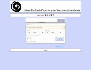hotels.new-zealand-vacations-in-west-auckland.com screenshot