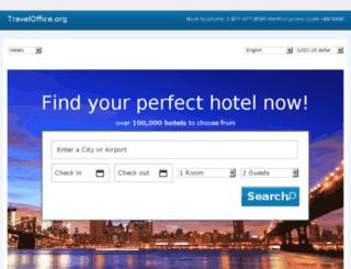 hotels.traveloffice.org screenshot
