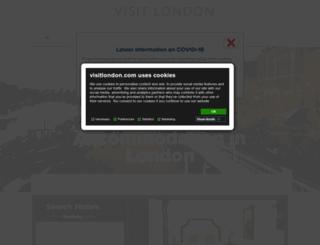 hotels.visitlondon.com screenshot