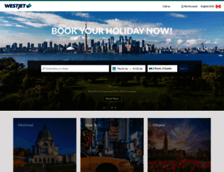 hotels.westjet.com screenshot