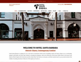 hotelsantabarbara.com screenshot