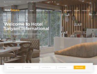 hotelsatyaminternational.com screenshot
