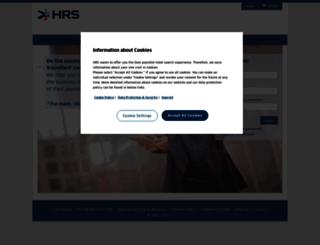 hotelservice.hrs.com screenshot